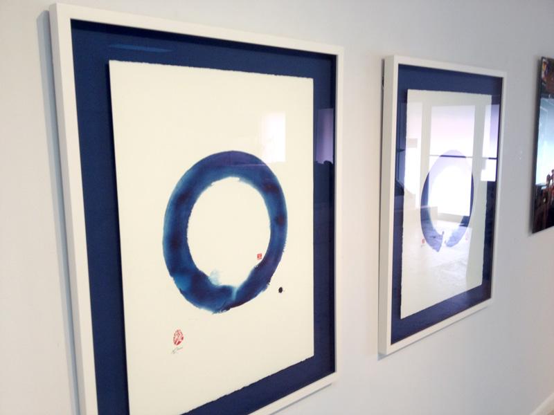 art frame blue mat enso